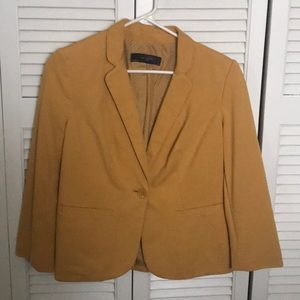 Mustard blazer by The Limited